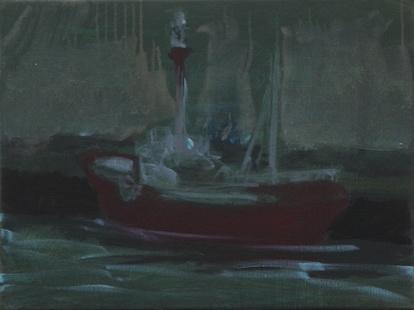 Feuerschiff, Öl/Leinwand, 40 x 30 cm, 2017