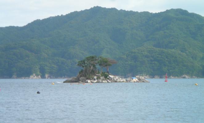 ひょっこりひょうたん島のモデルとなった蓬莱島(ほうらいしま)