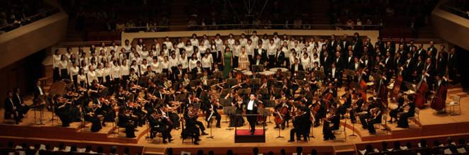 全国トップクラスの演奏家たちと、公募によって選ばれた40名と武蔵野合唱団によるベートーベンの第九