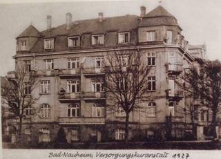 Luisenstraße 17/17a  Bad Nauheim, Postkarte von 1927: Sammlung Manfred Glawe