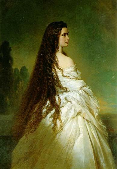 Kaiserin Elisabeth, Gemälde von F.X.Winterhalter 1865, Gem.-frei/Wiki