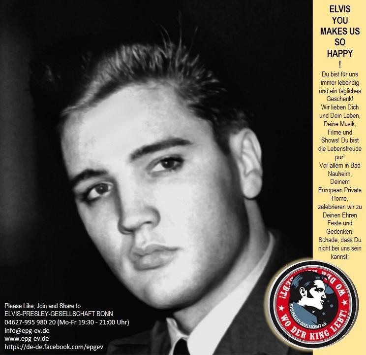 Elvis-Presley-Gesellschaft Bonn, Tel.: 04627 995 980 20, E-Mail: info@epg-ev.de, Website: epg-ev.de