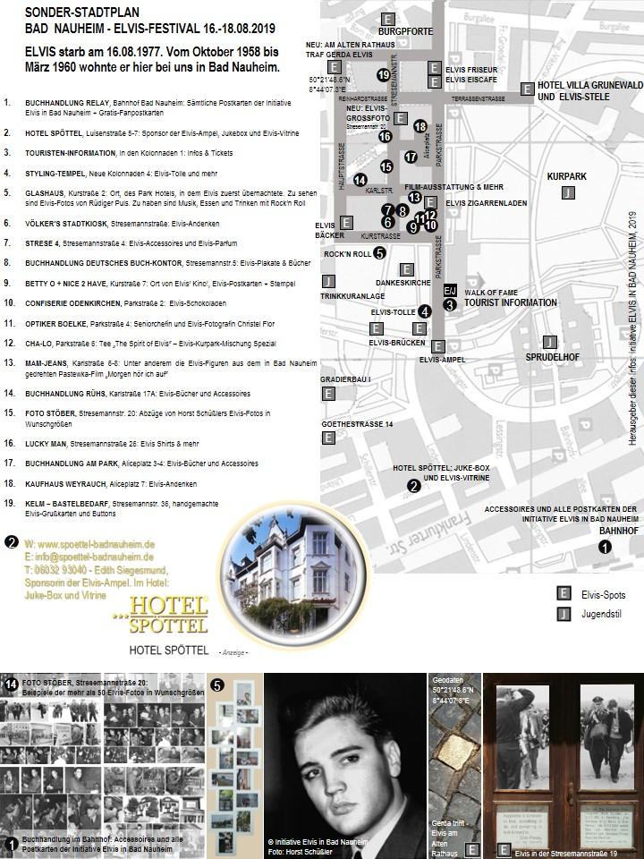 Sonder-Stadtplan zum Elvis-Festival 2019