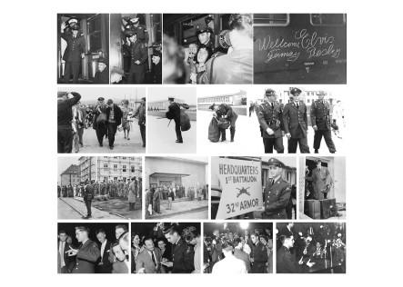 """1. """"G.I. Elvis Presley"""" - Postkarte 1 von 4 mit Fotos von Horst Schüssler"""