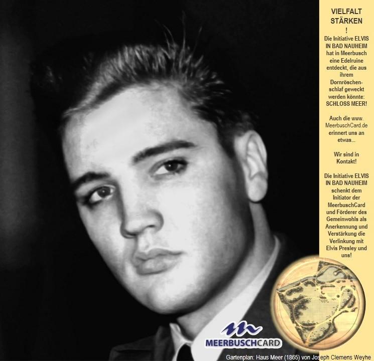 Elvis in Bad Nauheim und Ralph Jörgens aus Meerbusch und seine MeerbuschCard