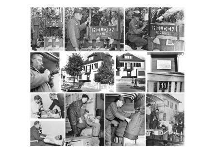 """4. """"G.I. Elvis Presley"""" - Postkarte 3 von 4 mit Fotos von Horst Schüssler. Auf einem der Fotos ist er selber zu sehen."""