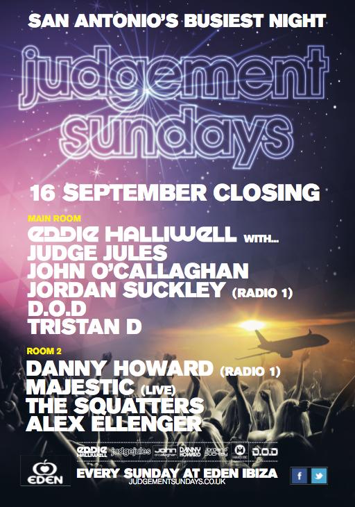 Judgement Sundays Closing Party 2012