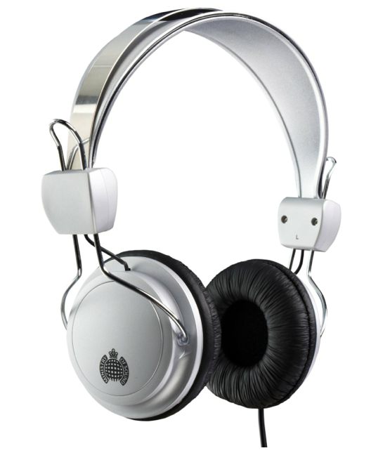 Ministry of Sound 004 Headphones - Silver/Black with Blue Cable