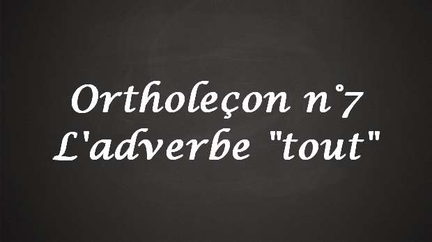 adverbe tout