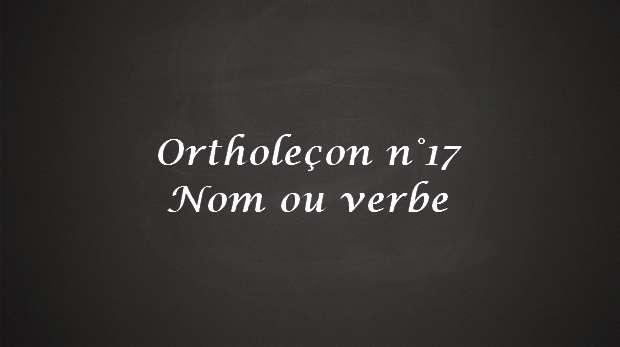 Nom ou verbe (diagnostic/diagnostique, envoi/envoie...)