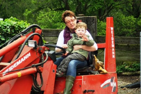 Traktor fahren Bauernhofferien NRW