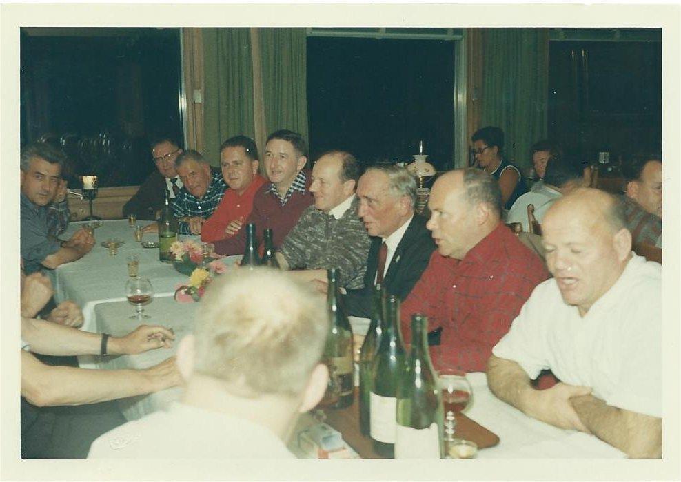 Jahresversammlung u.a. Fritz Heiniger und Charles Landert