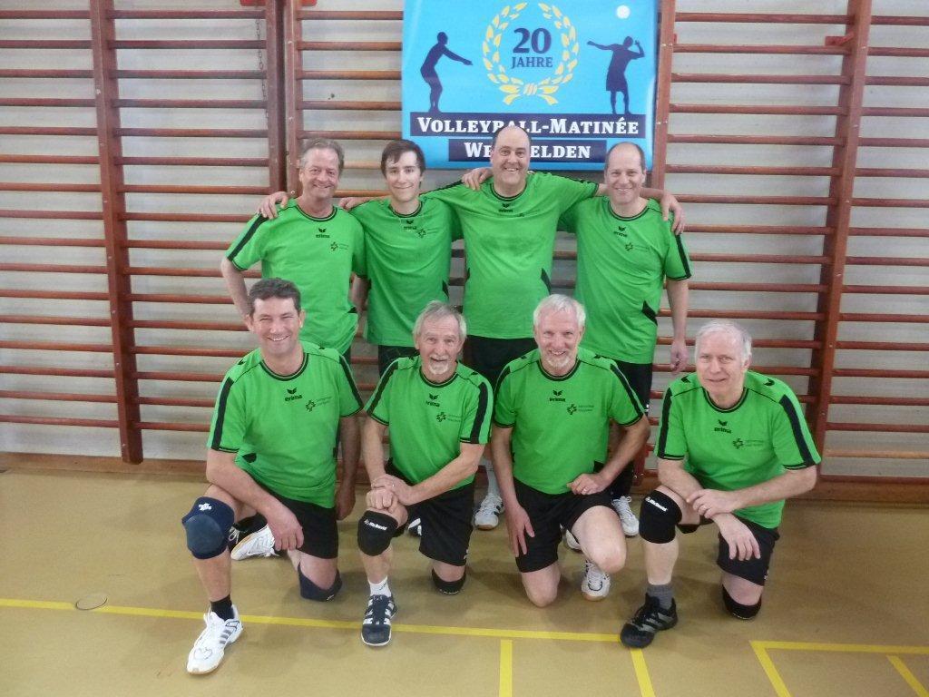 Volleyballer anlässlich Matinee in Weinfelden