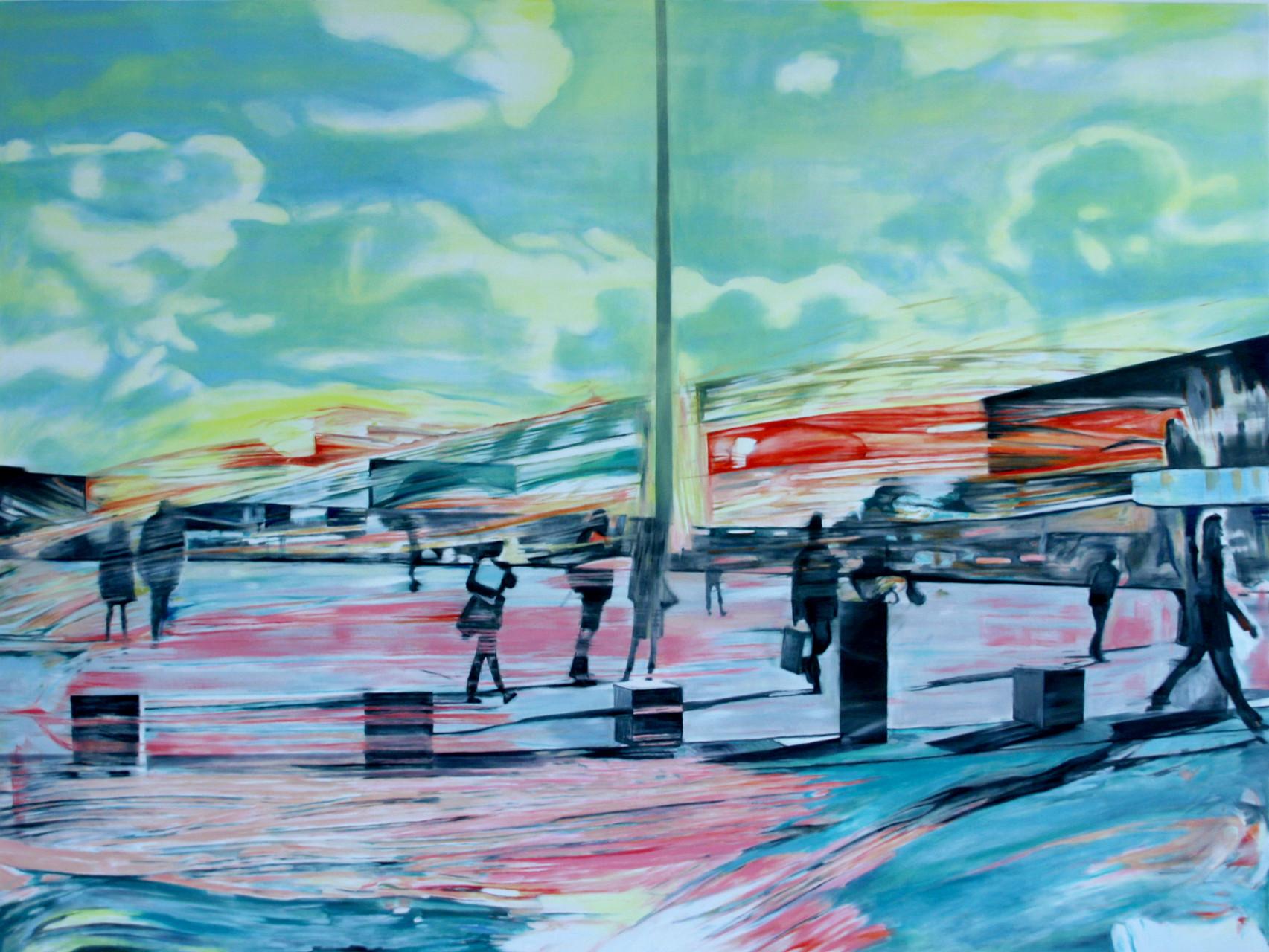 vereinzelt 2015    Öl auf Leinwand   120 x 160 cm
