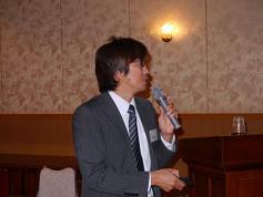 片岡委員による青年技術士交流会の活動紹介