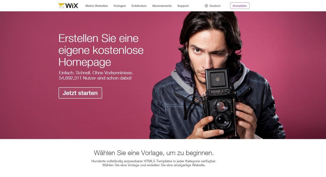 Wix Anleitung: zur eigenen Homepage Teil 1 - 2018