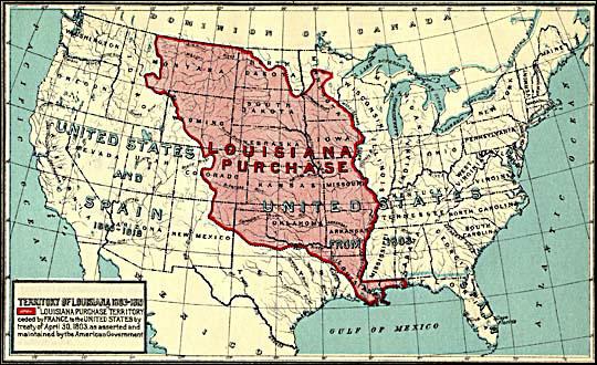 Carte de la Louisiane sous Napoléon I