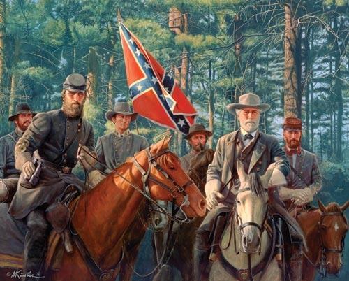 Les généraux Robert E. Lee et Stonewall Jackson (Confederate Army)