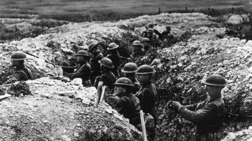 Doughboys dans les tranchées WWI