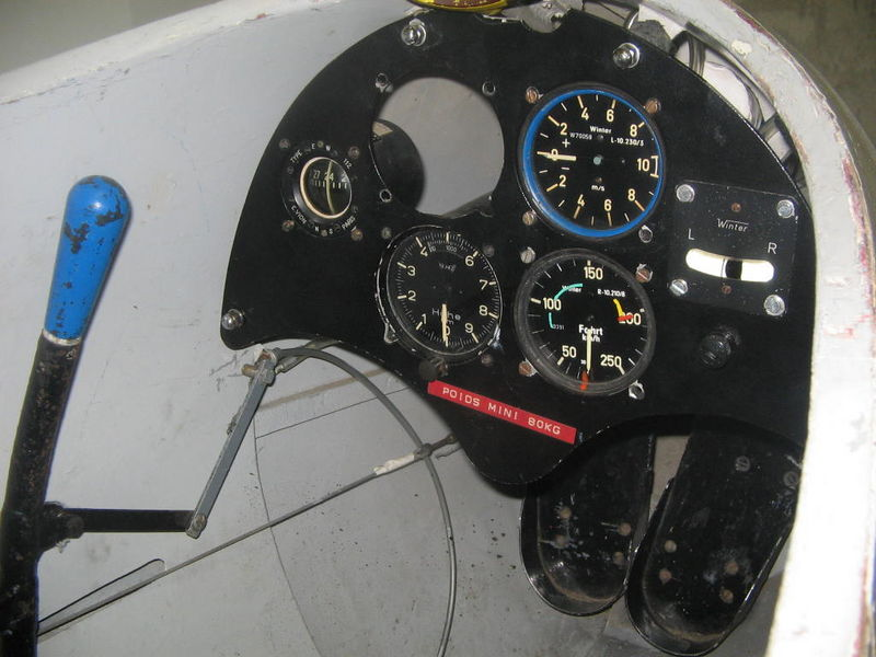 The old cockpit made by aluminium