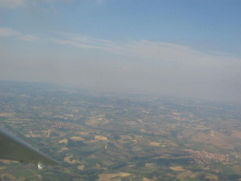 Flying over  Aviosuperficie Astigiana, September the 9th 2007