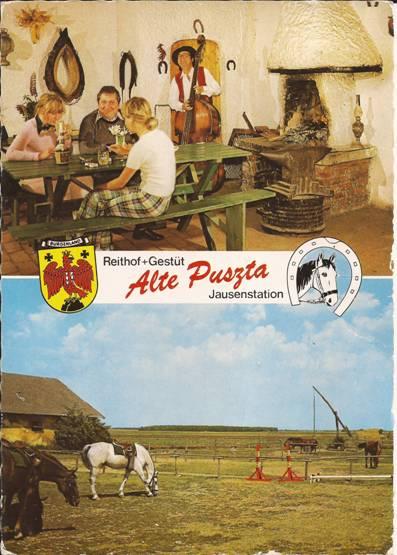 Alte Postkarte als der Althof noch Alte Puszta hiess