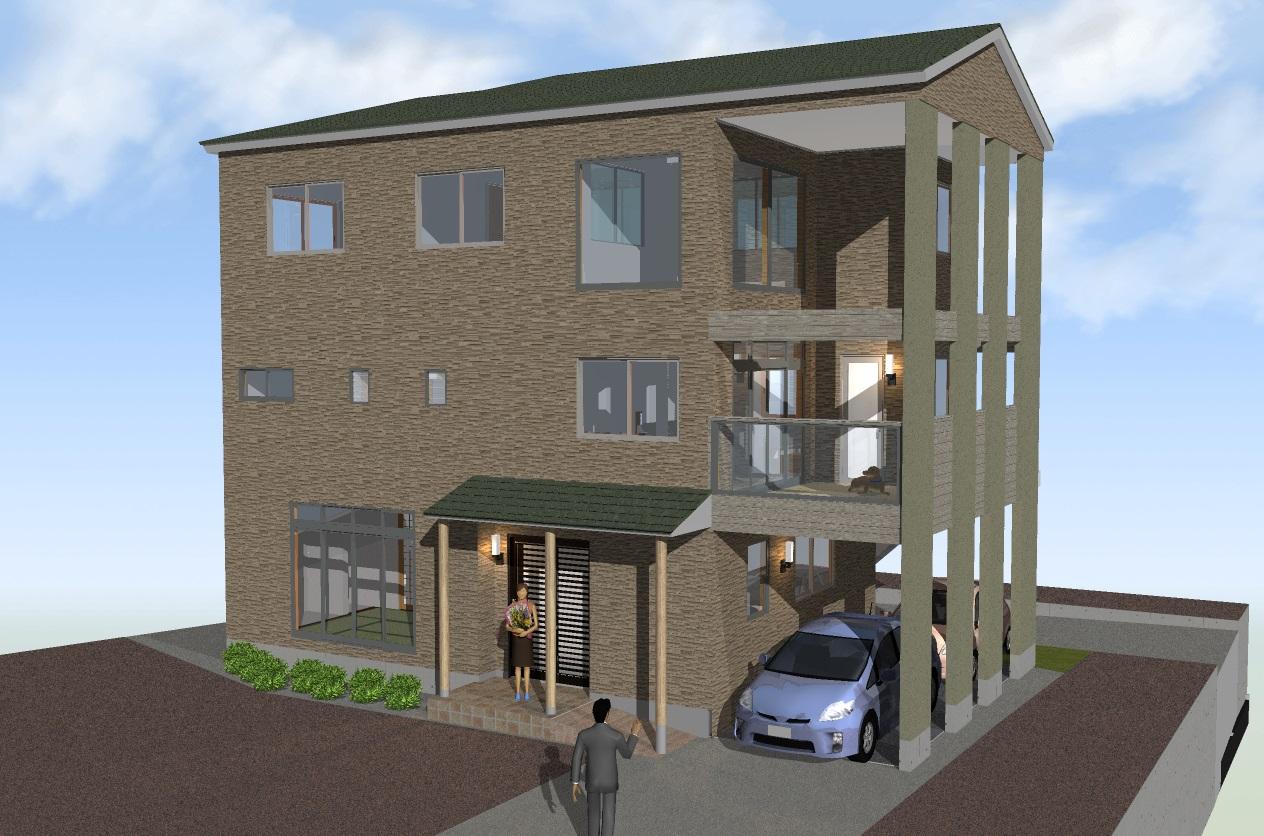 個人住宅(木造3階建て)