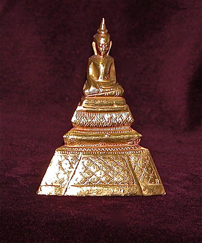 Bouddha thaï en or fourré, Rattanakosin (XIXe)