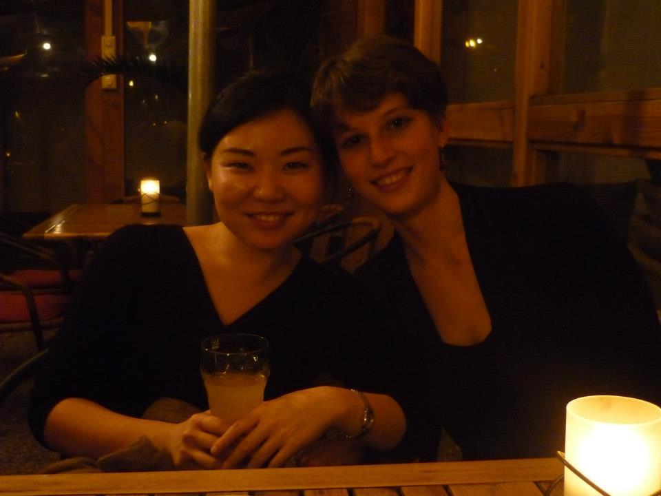in Freiburg  with my friend