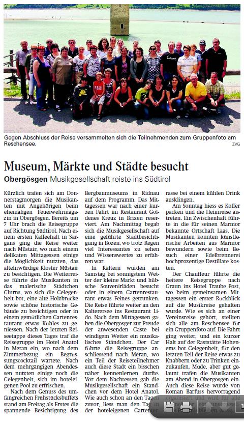 Oltner Tagblatt 15.7.2011