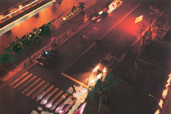 宝塚劇場の近くのホテルから