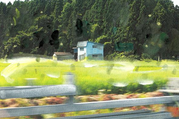 津軽半島の先端に行く道中
