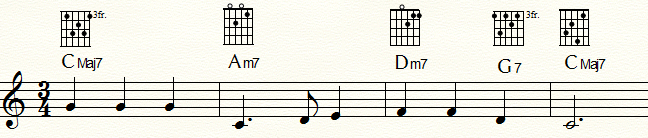「ふるさと」 T-T代理-SD代理・D-T 進行例