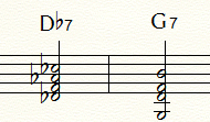 同じトライトーン(F音・B音)を含むドミナント・セブンス・コード