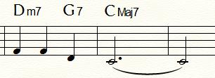 「ふるさと」末尾2小節:標準型