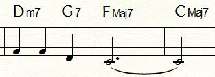 「ふるさと」末尾2小節:F例