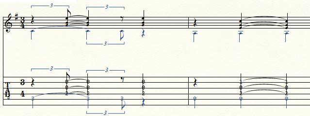 ジャズワルツの伴奏法フィンガースタイル