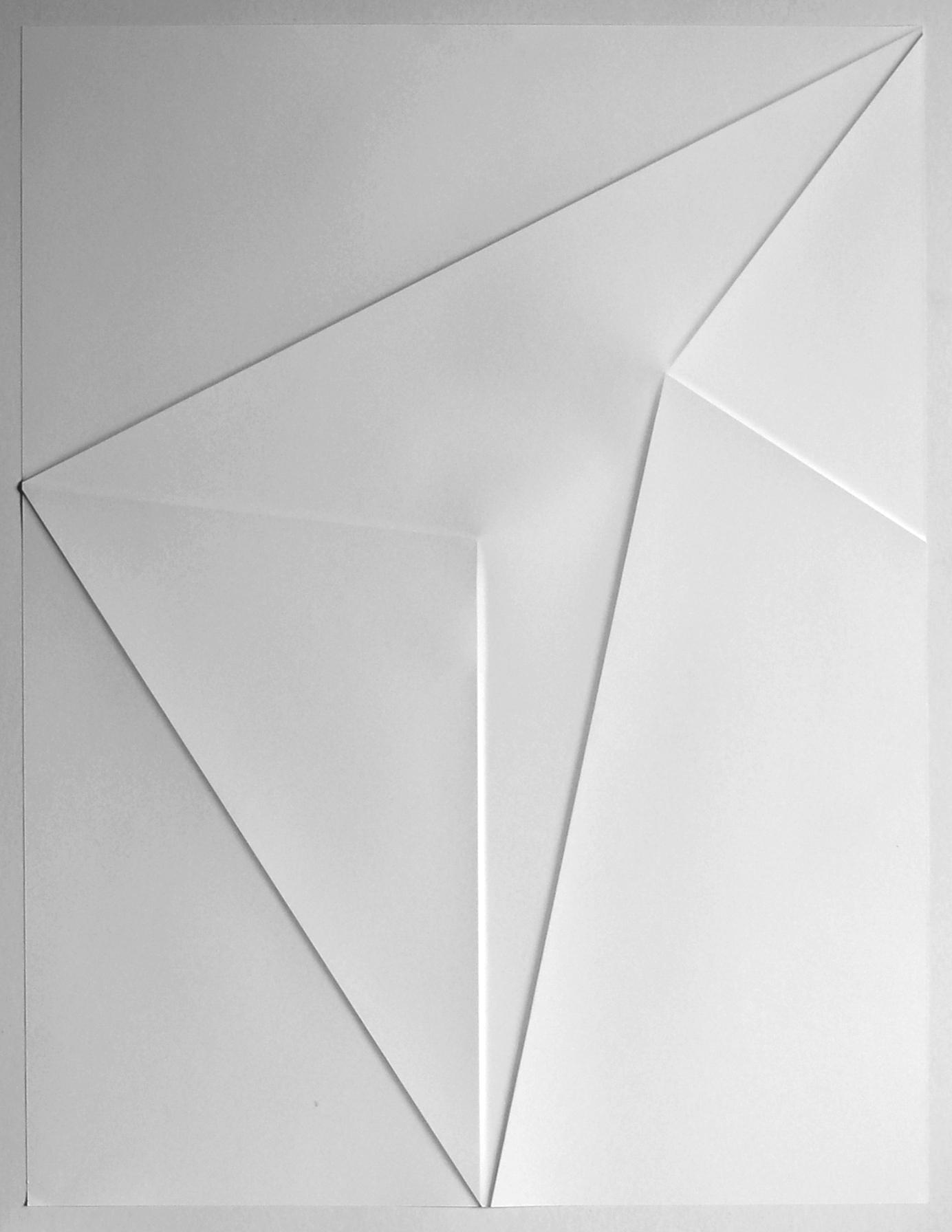 lines P43, 2019, Papier gefalzt, 59,5 x 77,0 cm