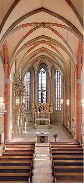 Innenansicht der Korbacher Nikolaikirche, die am 31. Oktober 2019 Zentrum der Reformationstagsfeier im Kirchenkreis ist.