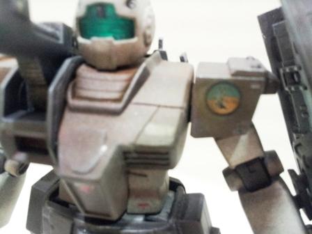左肩のアップ…トリトン基地のマーキング