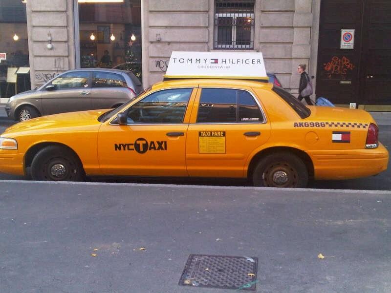 Taxi NYC en  Milan