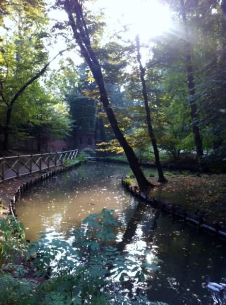 """Lago de los Jardines de """"Villa Reale"""""""