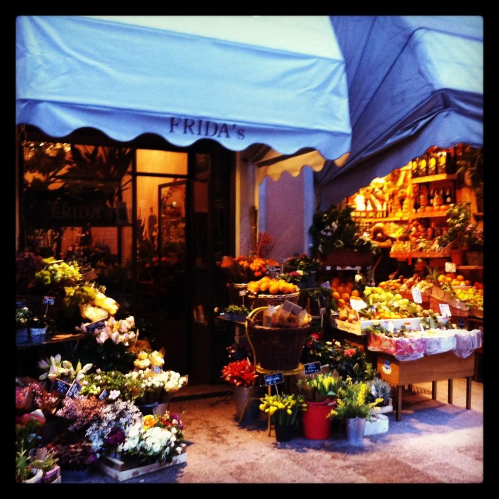 Tienda de flores y otra de fruta en C.so Garibaldi
