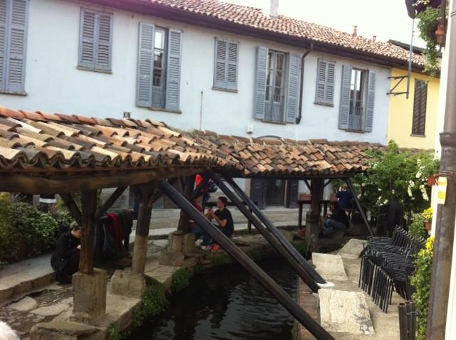 Naviglio- Fuente con zona para lavar la ropa