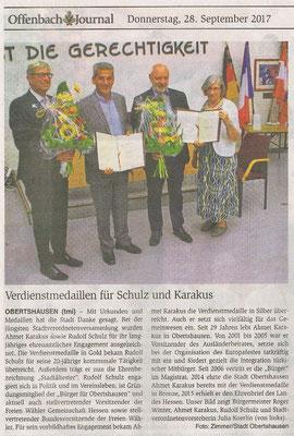 Offenbach Journal vom 28, September 2017