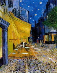 ゴッホ作「夜のカフェテラス」