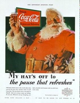 サンタクロースの赤 コカコーラ