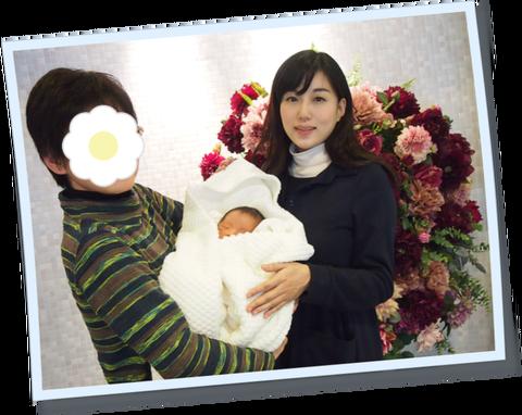 完全母乳の愛育病院。初日から母乳が出たため、6日間昼夜逆転の寝不足の私^^。でも幸せ❁