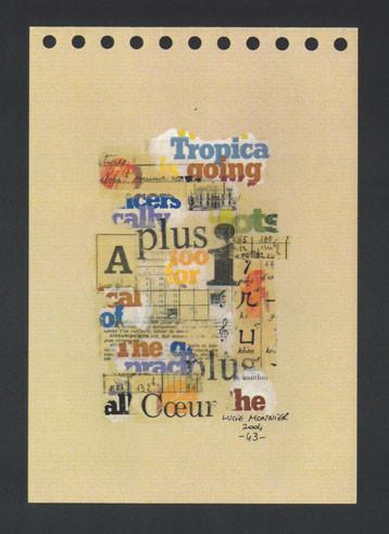 les lettres 1 (21 x 14 cm)