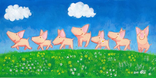 marching piglets (2010)